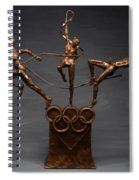 Citius Altius Fortius Olympic Art On Gray Spiral Notebook