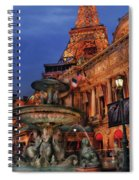 City - Vegas - Paris - Academie Nationale - Panorama Spiral Notebook