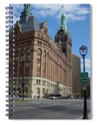 City Hall And Lamp Post Spiral Notebook
