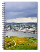 Cityscape Of Saint John's From Signal Hill Spiral Notebook