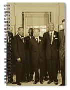 Civil Rights Leaders And President Kennedy 1963 Spiral Notebook