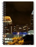 Colorful Sky Above The City On The Shore Spiral Notebook