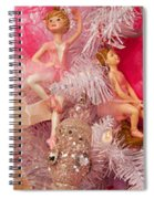 Close-up Of Toys On Christmas Tree Spiral Notebook
