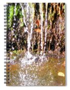 Close Up Of Waterfall Flowing Over Rocks  Spiral Notebook
