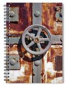 Close Up View Of An Unusual Door That Is Part Of An Old Rundown Building In Katakolon Greece Spiral Notebook