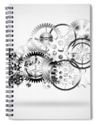 Cloud Made By Gears Wheels  Spiral Notebook