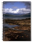 Cloud Passing Across The Cuillin Main Ridge And Bla Bheinn From Tokavaig Sleat Isle Of Skye Scotland Spiral Notebook
