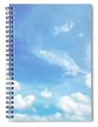 Cloud Shapes  Spiral Notebook