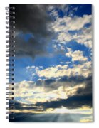 Clouded Sun Rays Spiral Notebook