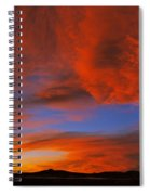 Clouds In The Sky At Sunset, Taos, Taos Spiral Notebook