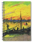 Coal Barges Spiral Notebook