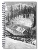 Coal Mine Explosion, 1884 Spiral Notebook
