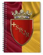 Coat Of Arms Of Rome Over Flag Of Rome Spiral Notebook