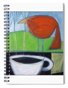 Coffee With Red Bird Spiral Notebook