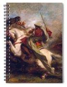 Collision Of Moorish Horsemen Spiral Notebook