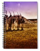 Colonial Soldiers At Fort Mifflin Spiral Notebook