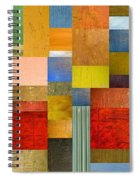 Color Panels With Green Grass Spiral Notebook