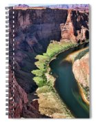 Colorado River Flows Around Horseshoe Bend  Spiral Notebook