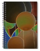 Colored Bubbles Spiral Notebook