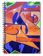 Colorful Abstract Street Art  Spiral Notebook