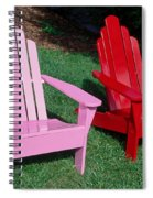 colorful Adirondack chairs Spiral Notebook