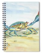 Colorful Blue Crab Spiral Notebook