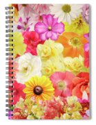 Colorful Floral Background Spiral Notebook