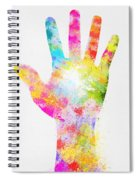 Colorful Painting Of Hand Spiral Notebook