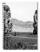 Colossi Of Memnon, Valley Of The Kings Spiral Notebook