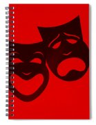 Comedy N Tragedy Red Spiral Notebook