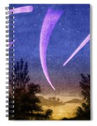 Comets In Night Sky Spiral Notebook