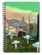Compsognathus Dinosaur - 3d Render Spiral Notebook