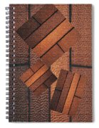 Copper Plate Abstract Spiral Notebook