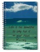 Corey Rockafeler - Inspirational Spiral Notebook