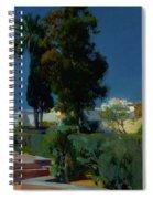 Corner Of The Garden, Alcazar, Sevilla Spiral Notebook