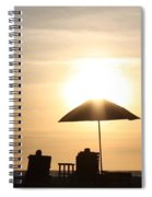 Couple On The Beach At Sunset Spiral Notebook