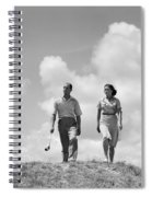 Couple Out Golfing, C.1930s Spiral Notebook