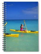 Couple Paddling Spiral Notebook