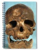 Cro-magnon Skull Spiral Notebook