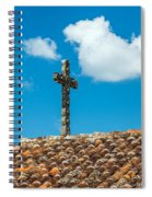 Cross And Tiled Roof Spiral Notebook