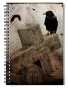 Cross With Crow Spiral Notebook