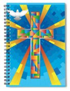 Cross With Dove Spiral Notebook