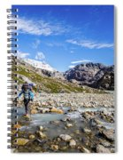Crossing A River In Patagonia Spiral Notebook