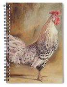 Crowing Rooster Spiral Notebook