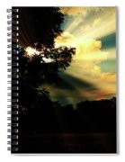 Cumulus Cloud At Dusk, Tree Silhouettes Spiral Notebook