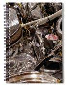 Custom Car Chromed Engine Spiral Notebook