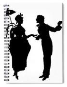 Cut-paper Silhouette Spiral Notebook