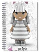 Cute Little 3d Girl Spiral Notebook