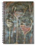 Dancing Glasses Spiral Notebook