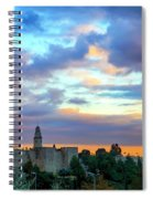 David Tower At Sunset  Spiral Notebook